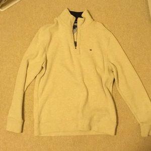 Tommy Hilfiger white quarter zip pullover fleece